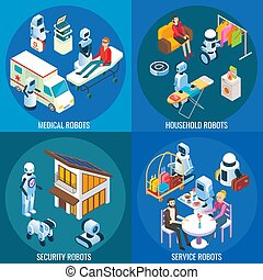 Vector isometric medical, home and service robots