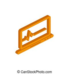 Vector isometric Medical record icon on a white background