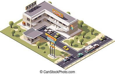 Vector isometric motel