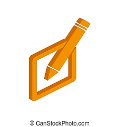 Vector isometric PENCILS icon on a white background