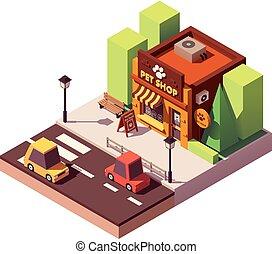Vector isometric pet store