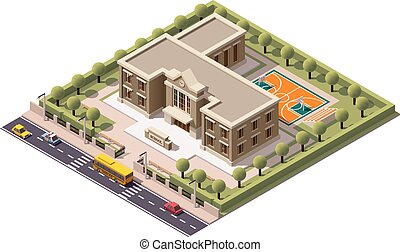 Vector isometric school