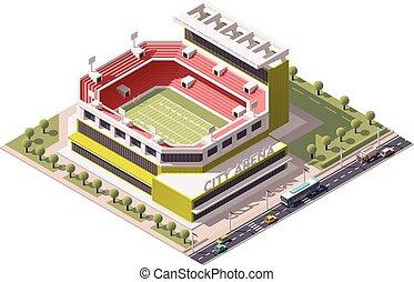 Vector isometric stadium - Isometric icon representing...