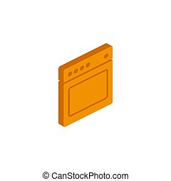 Vector isometric Stove icon on a white background