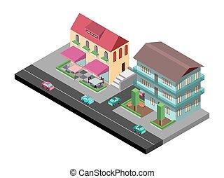 Vector isometric street
