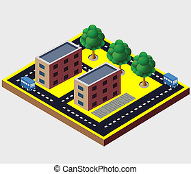 vector, isometric