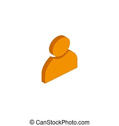 Vector isometric user icon on a white background.
