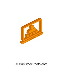 Vector isometric Video Conversation icon on a white background
