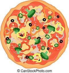 vector italian pizza