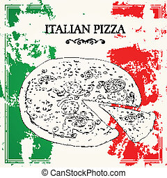 Vector Italian Pizza Poster