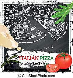 Vector Italian Pizza Poster