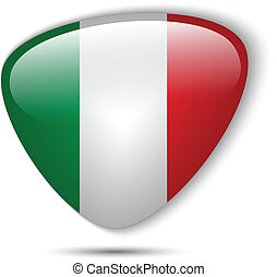 Italy Flag Glossy Button