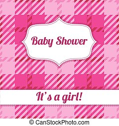 Its a girl card with plaid
