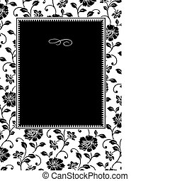 Vector Ivy Pattern and Frame