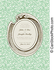 Vector Ivy Pattern and Ornate Frame