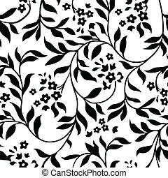 Vector Ivy Pattern - Vector repeating ivy pattern. Swatch is...