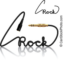 vector jack connectors rock calligraphy