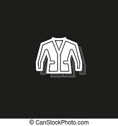 vector jacket illustration isolated - clothing wear fashion