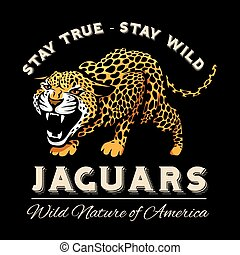 vector, jaguar, leopardo, logotipo, emblema, símbolo