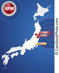 Japan Earthquake and Tsunami Disaster 2011 - Vector - Japan...