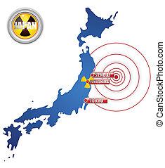 Japan Earthquake, Tsunami and Nuclear Disaster 2011 - Vector...