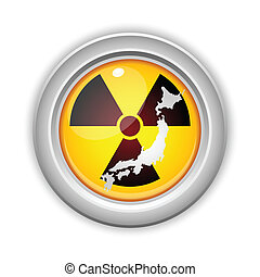 Japan Nuclear Disaster Yellow Button