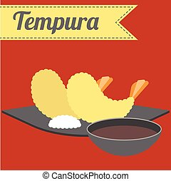 Vector Japanese Food Tempura