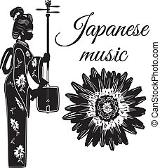 Vector japanese music poster banner template - Vector...
