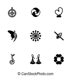 Vector Jewellery icon set