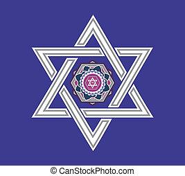 Vector jewish star design - Jewish star design - vector...