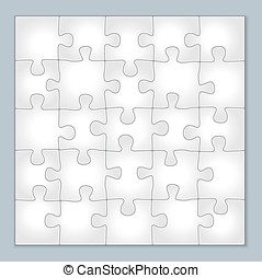 Vector jigsaw puzzle