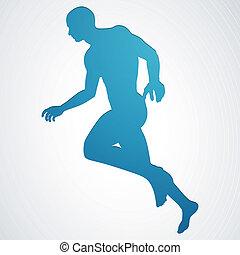 Vector Illustration of a Jogger