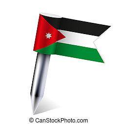 Vector Jordan flag isolated on white. Eps10