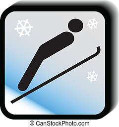 vector-jumps, 冬, アイコン
