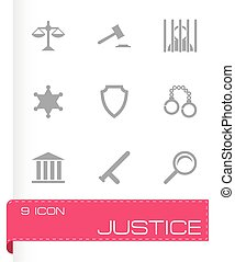 Vector justice icons set