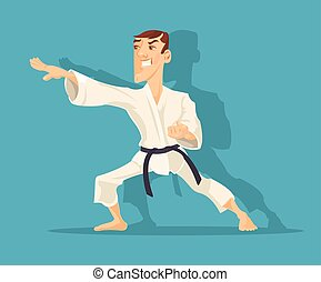 Vector karate flat illustration
