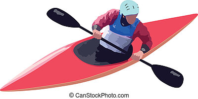 Vector - Kayaker - Kayaker