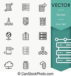 vector, kelner, iconen