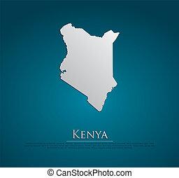 vector Kenya Map card paper