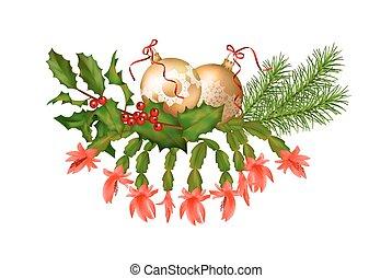 vector, kerst decoraties
