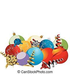 vector, kerstmis, achtergrond