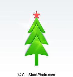 vector, kerstmis, achtergrond., eps, tien