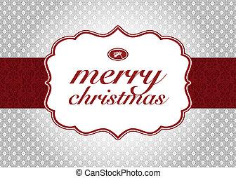 vector, kerstmis, achtergrond, etiket