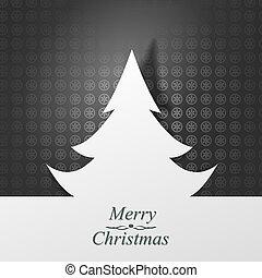 vector, kerstmis, illustratie, card.