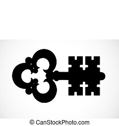 Vector Key - Iconic key illustration. Easy to scale to any...
