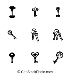 Vector Key icon set