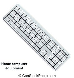 Vector keyboard in white color