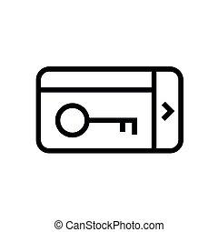 vector, keycard, icono