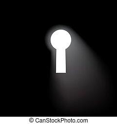 Vector keyhole window background.