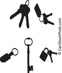vector keys silhouette